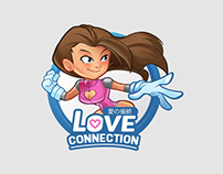 Love Connection Mascot And Logo