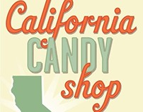 The Fresh Market California Candy Shop Sign