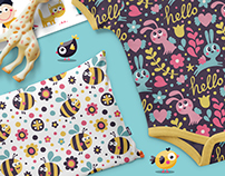 Seamless cute children patterns