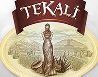 Tekali Packaging Label Illustrated by Steven Noble