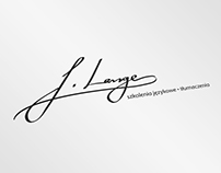 Logo design in the form of a handwritten signature