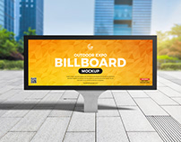 Free Outdoor Advertising Billboard Mockup