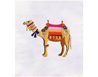DECORATED CAMEL MACHINE EMBROIDERY DESIGN