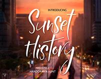 Sunset History-freestyle font