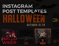 Halloween Instagram Post Templates - FREE