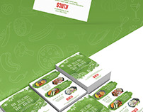 Flyer design for South catering