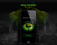 """HULK TALKING!"" iOS Mobile App"