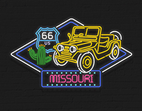 Highway 66 animation