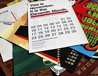 History of Graphic Design Calendar Set