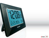 SHARP LCD Alarm Clock for Target