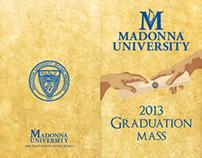 Madonna University 2013 Graduation Mass Pamphlet