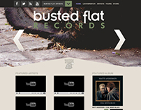 BUSTED FLAT RECORDS | WEB REDESIGN
