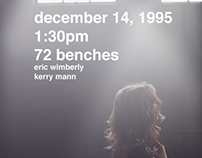 December 14, 1995 1:30pm 72 Benches