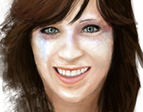 Digital Painting: Zooey Deschanel