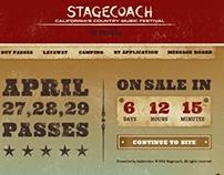 Stagecoach festival splash page