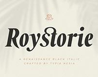 Roystorie Bold / Black Italic - Retro Font