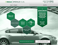 Emerald Club Promotional Landing Page