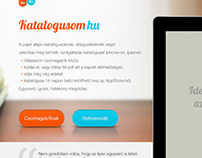 Katalogusom.hu - website design
