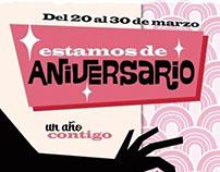 """Aniversario """"En tonos pastel"""""""