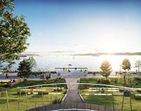 "Promenade ""Kiellinie"" waterfront"