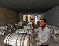 Winery at the vineyard of Mega Spilaio