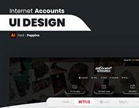 İnternet Hesapları Arayüz Tasarımı
