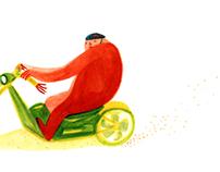 Mr. Rouge, illustration.