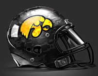 Iowa Hawkeyes Pro Combat Uniforms