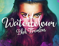 64 Watercolour Blob Photoshop Brushes