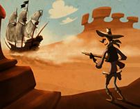 Cowboy and Ship