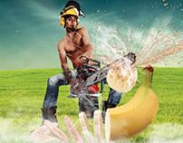 Banana & Worker