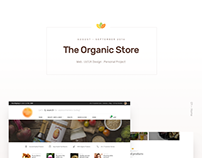 The Organic Store | Web UI/UX Design | Personal Project
