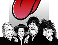 The Rolling Stones caricature.