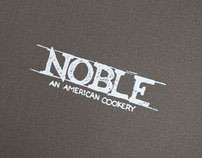 Noble: An American Cookery Menus