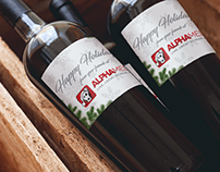 Alpha Media Holidays Wine Bottle Label