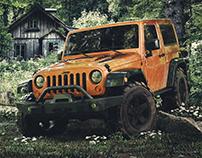 Jeep Wrangler | Texturing + Lighting + Set Dressing