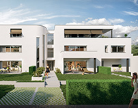 Renders for residential project in France