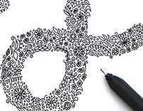 """F"" doodle art"