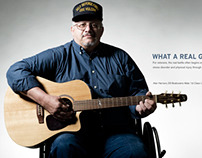 Guitars for Vets Print Ads