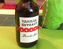 Homemade Vanilla Extract Labels