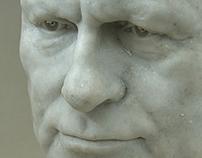 Prof. Balcerowicz. Marble portrait
