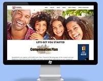 Website design presentation for Channel of Blessings.