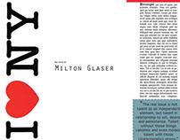 Milton Glaser - Magazine Article Design
