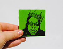 Rapper Series Miniature Pixl Paintings