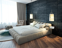 Contemporary bedroom. Kiev