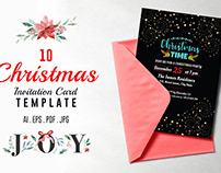 10 Christmas Invitation Card Template