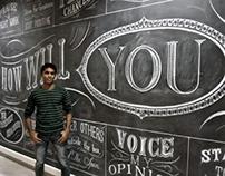 Kraft Headquarters, Toronto - Chalk wall