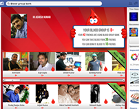 Blood Group Bank - A facebook application