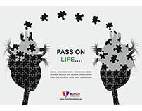Press Add for Heart Donation.