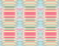 Rainbow Colored Ribbon Vector Pattern